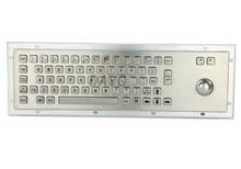 Stainless steel keyboards Metal Kiosk Keypad with Trackball mechanical keyboards
