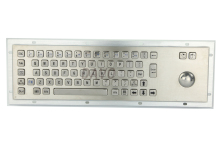 цена на Stainless steel keyboards Metal Kiosk Keypad with Trackball mechanical keyboards