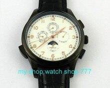 Бесплатная доставка 44 мм ПАРНИС Азии Автоматические механические движения мужские часы Роскошные часы 2016 новая мода x00013a