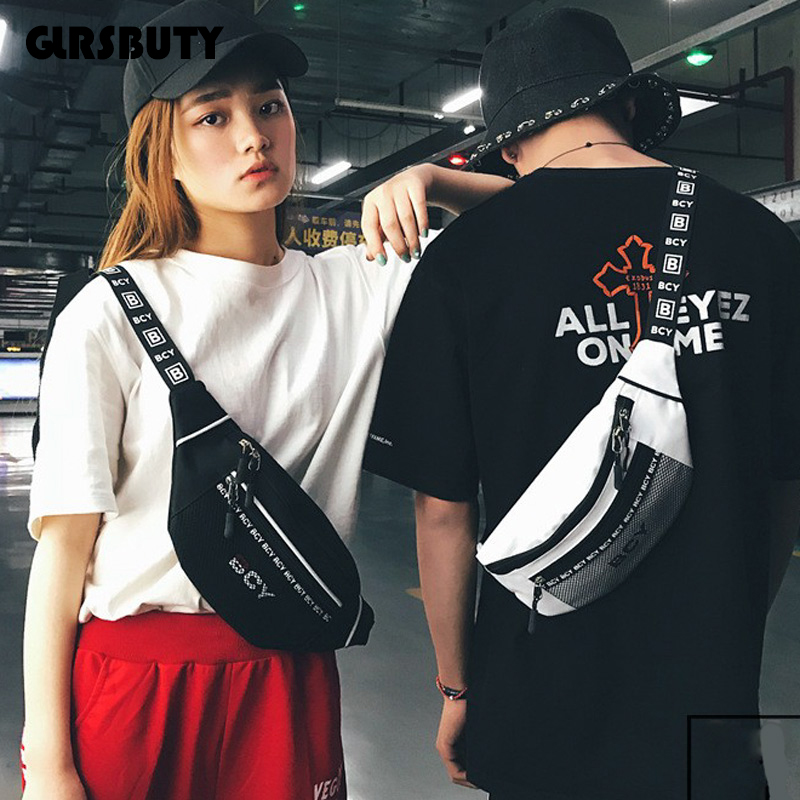 Waist-Bag Sling Fanny-Pack Harajuku-Style Travel Fashion Women's Hip-Hop For Dailylife