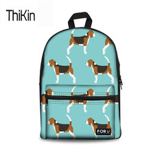 THIKIN Kids Bag School Backpack For Girls Boys Beagles Dog Printing  Schoolbag Teenagers Canvas Bookbags Satchel 2c45e88a16295