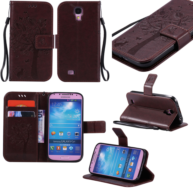 Flip Case For Samsung galaxy Siv S iv i9500 Phone leather Cover For galaxy S4 S 4 GT i8500 i9506 I8508 GT-I9505 GT-9500 Cases