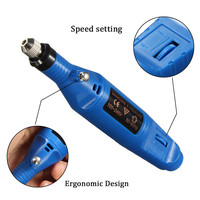 High Quality 1 Set Of Electric Mini Grinder Carving Machine For Metal Wood Glass Engraving Tool