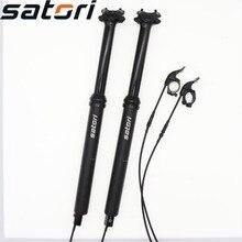 Satori height adjustable dropper seatpost internal routing wire 150mm travel 30.9 31.6mm 460mm remote MTB  bike seat post