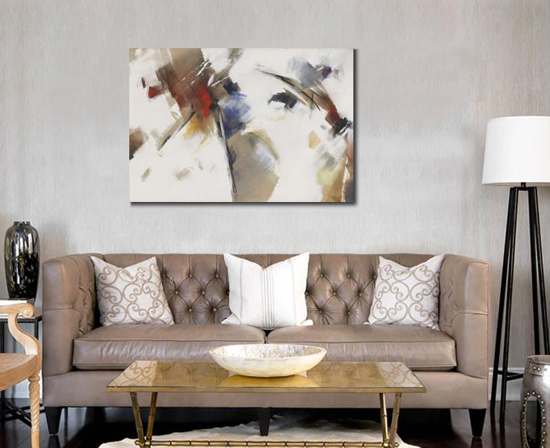 Wall decoration prints Abstract canvas piantings Splatters Spots Ohne Titel Um