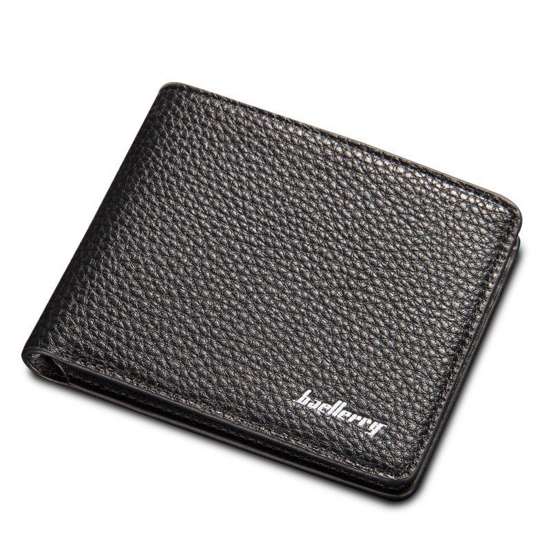 Baellerry New Men Business Wallets Korean Short Cross Vertical Litchi Grain Quality Soft PU Leather Purse Wallet Free Shipping baellerry business black purse soft light pu leather wallets large capity man s luxury brand wallet baellerry hot brand sale