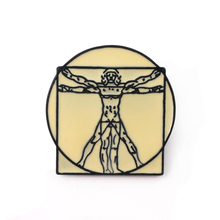 New Leonardo da Vinci Uomo Vitruvian Brooches Pins The Madonna Litta Badge Gifts Jewelry Lapel Pin backpack bags