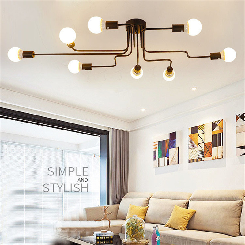 4-6-8-Heads-Multiple-Rod-Wrought-Iron-Ceiling-Light-Retro-Industrial-Loft-Nordic-Dome-Lamp (3)