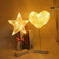 1 Pc Cute Pentagram LED Night Lights Love Five pointed Star Shape Light Household Table Setting Small Light