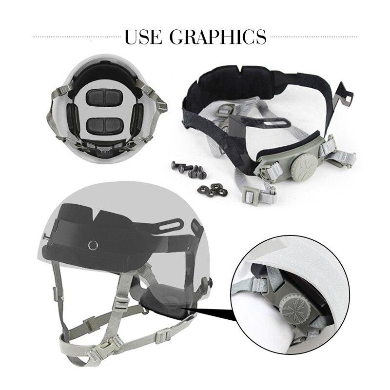 Тактическая система шлема внутренняя подвеска Быстрый регулируемый ремень для страйкбола пейнтбола охотничьего скалолазания шлем аксесс...