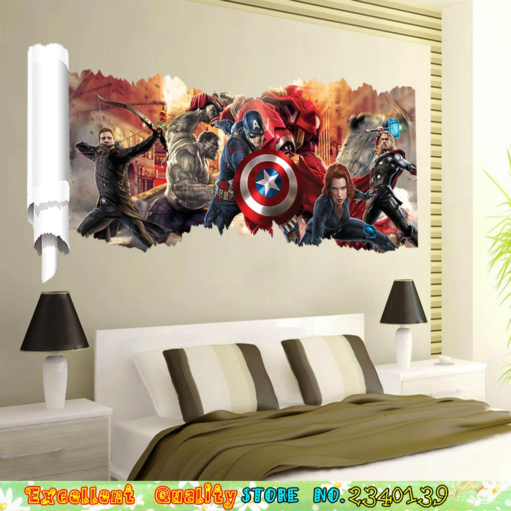 online get cheap christmas posters com alibaba marvel avengers wall sticker superhero poster wall decals home living room boys bedroom mural art christmas