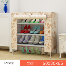 3 Tier Shoe Rack Nonwovens Easy to install Shoe cabinet Shelf Storage Organizer Stand Holder Space Saving home Furniture