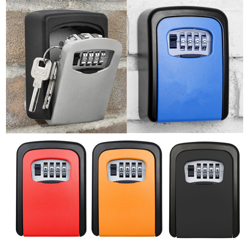Wall Mounted 4 Digit Combination Key Storage Security Safe Lock Box Combination Storage Security Lock With Screw HardwareWall Mounted 4 Digit Combination Key Storage Security Safe Lock Box Combination Storage Security Lock With Screw Hardware
