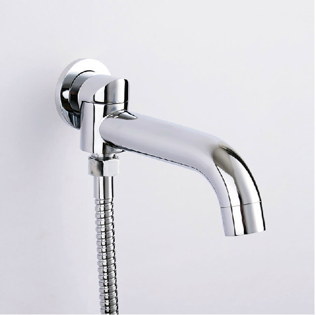 Aliexpress Com Buy With Diverter 2 Way Outlet Swivel Spout Round Wall Mounted Mixer Tap Brass