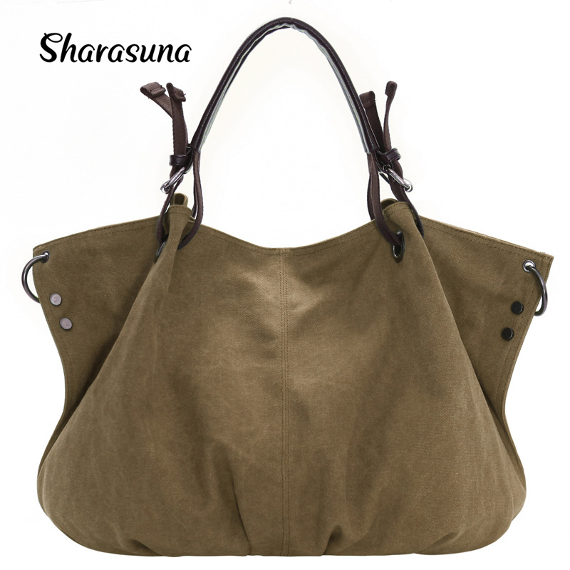Big Canvas Bags Shoulder Ladies Handbags Brands Large Captain Tote Bags