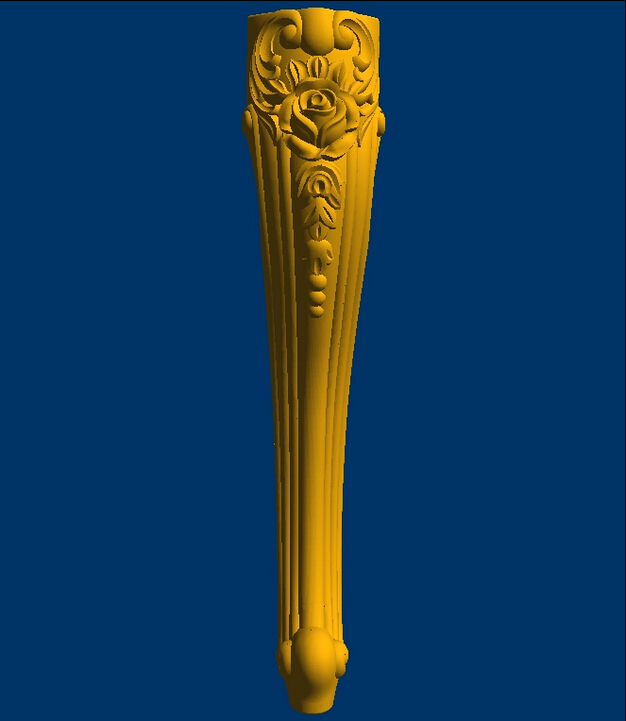 High Quality Relief 3d Model STL Legs File Format For Cnc TABLET DESK Furniture Leg--23