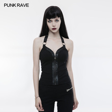 Punk Rave Women T-shirt Backless Sexy Camisole Sling Party Vest Tops Shirt