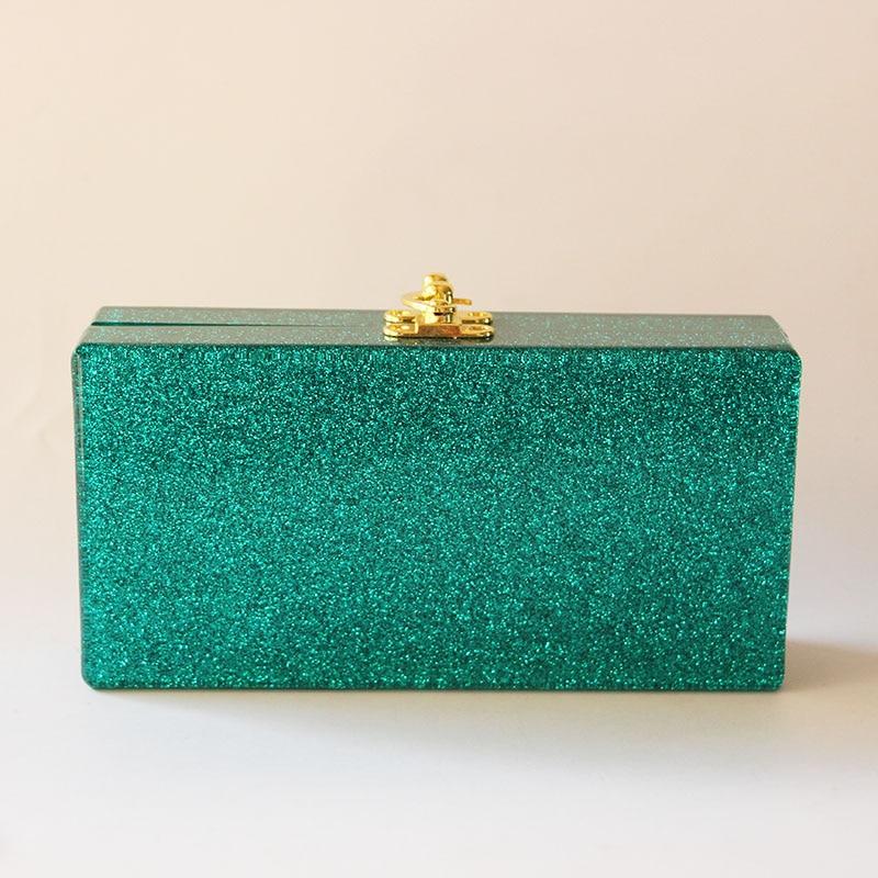 Πράσινο Glitter Ακρυλικό βράδυ Γυναικεία - Τσάντες - Φωτογραφία 3