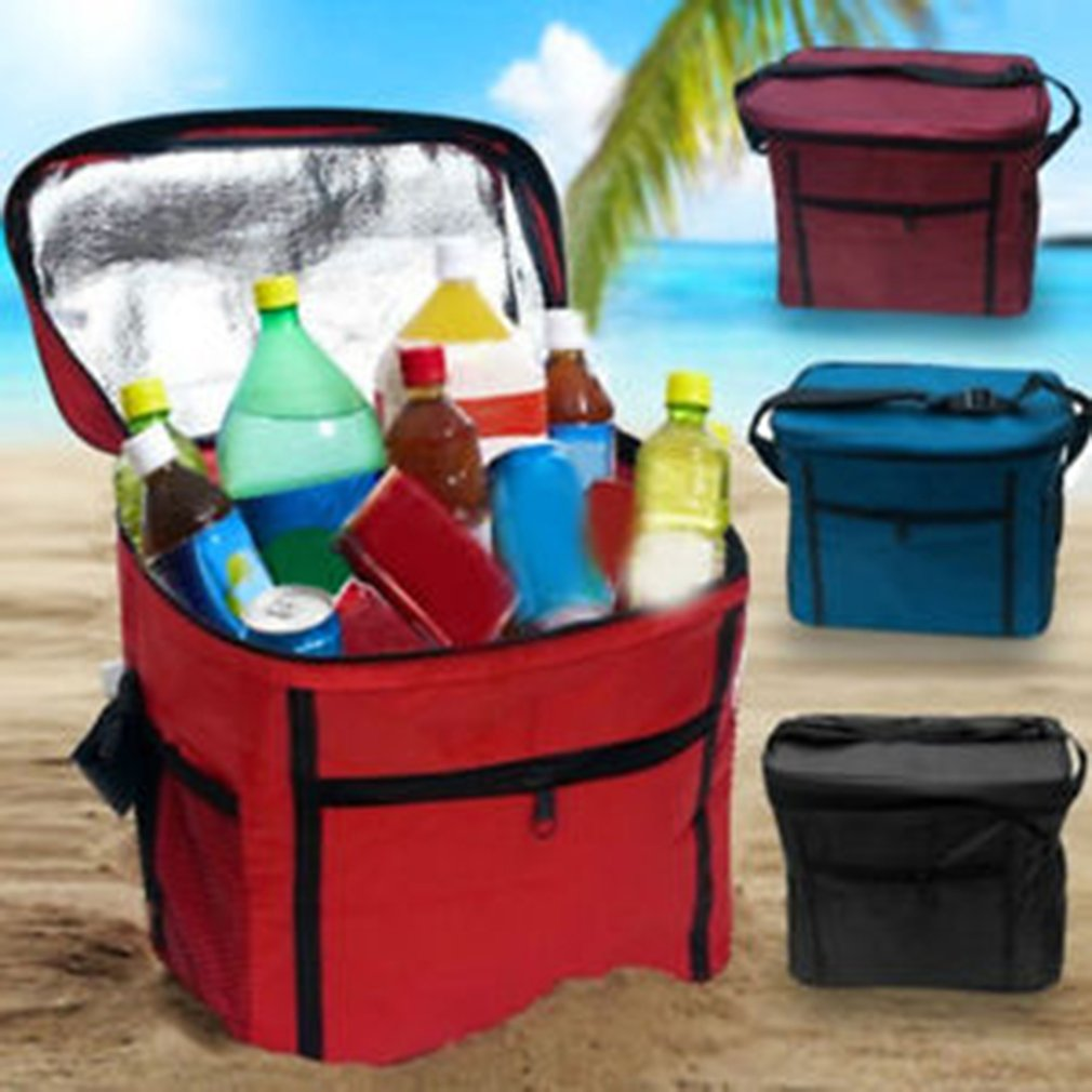Image 4 - Portable Cooler Bag For Food Preservation Storage Picnic Thermal Insulation Bags Travel Nylon Women Lunch Bags-in Picnic Bags from Sports & Entertainment