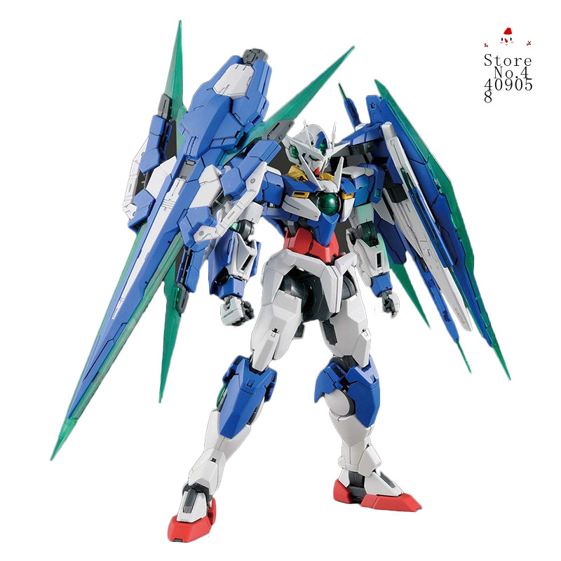 New A assembly mg 1/100 Bandai GNT-0000 00 Qan[T]/00Q Quanta gundam GN SWORD IV ROBOT MODEL Action Figure Anime Model Figure new arrive 1 pc japanese black metal alloy heavy blade sword accessorie for 1 144 hg rg mg unicorn gundam action figure toy