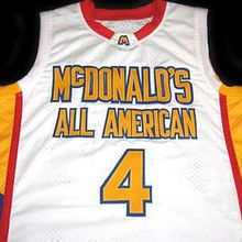 0e0893ae1 Jonny Flynn  4 McDonald s All American Mens Basketball Jersey Embroidery  Stitched Customize any name and