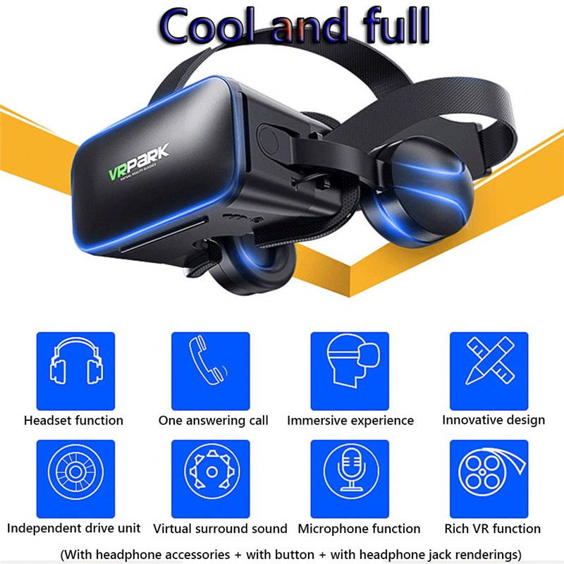 VR Virtual Reality Glasses 3D Goggles Helmet For 4 to 6 inch Smartphone Stereo Headset VR Glasses For Movies & Games and Video 2