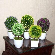 Artificial flowers bonsai bonsai as potted green plants Gypsophila pine needles simulation plant potted plants quality