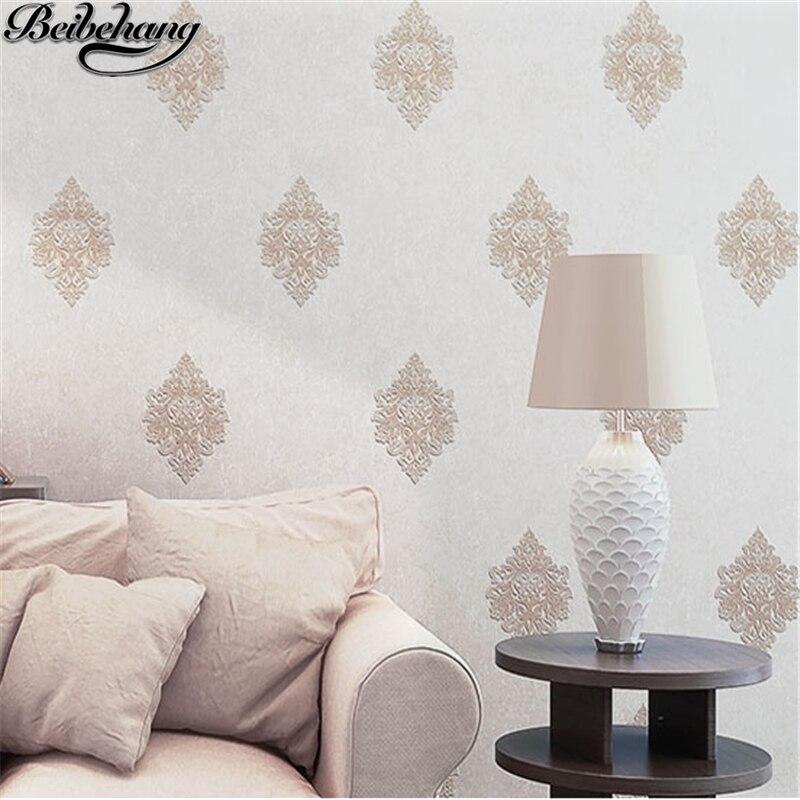 Us 29 92 27 Off Beibehang Grain Crafts European Wallpaper Nonwovens Wallpaper Jane Europe Flowers Bedrooms Living Room Wallpaper Papel De Parede In