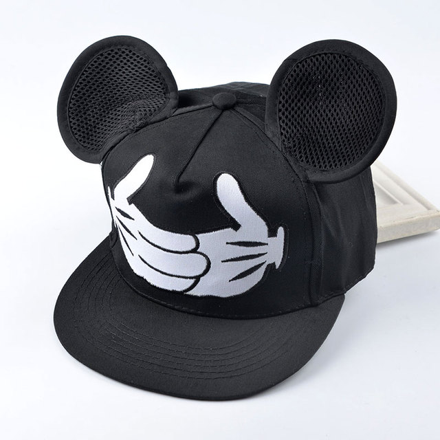2016 new cartoon cute baseball cap big ear Mouse Snapback Hats for men  Hip-hop cap Bone gorra Women Chapeau a1157770b4c