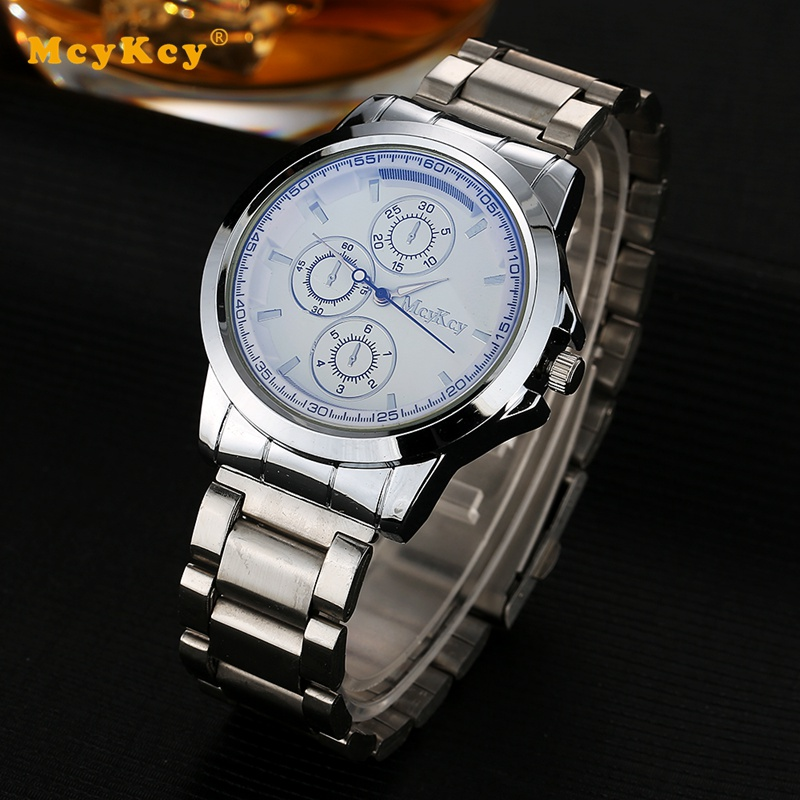Mcykcy Hot Sale Top Brand Luxury Male Watches Business Casual Luxury Watch Steel Band Strap Quartz Alloy Sport Man Wrist Watch