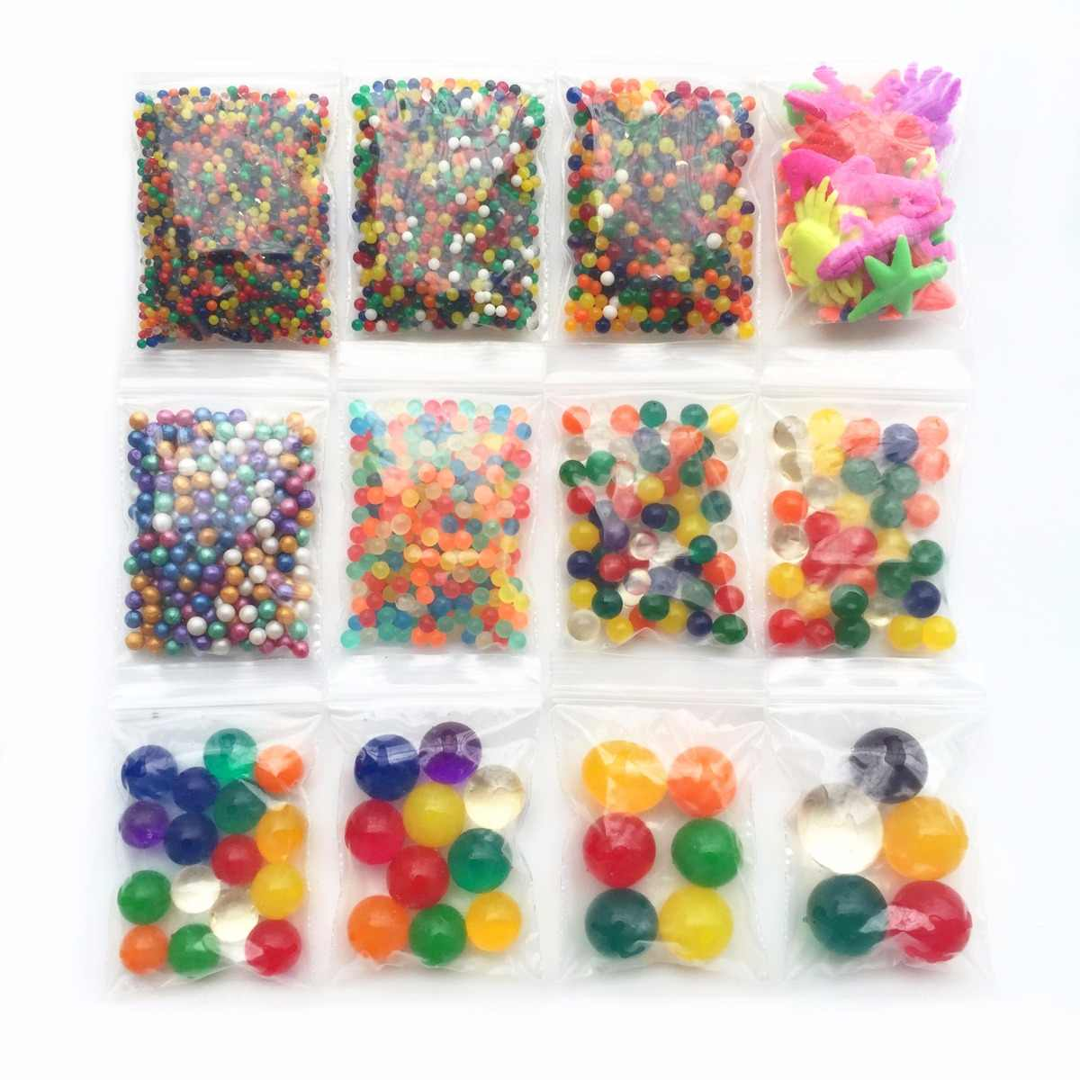 12 Size Pearl Shape Crystal Soil Mud Hydrogel Gel Growing Glitter Orbiz Water Balls Water Beads Set Home Decor