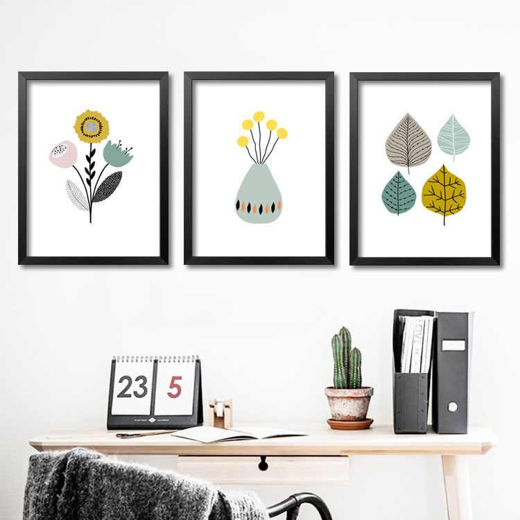 جديد تصميم أوراق الزهور الطازجة صور الفن أختام المشارك ستريت الصورة قماش اللوحة لا مؤطر غرفة المعيشة ديكور المنزل sj