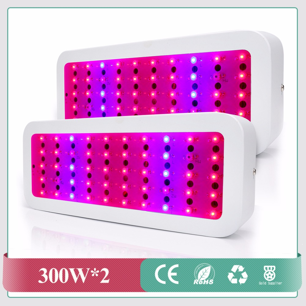 Full Spectrum LED Grow Light Panel Red/Blue/White/UV/IR 300W Grow Light Indoor Hydroponics LED Plant Grow