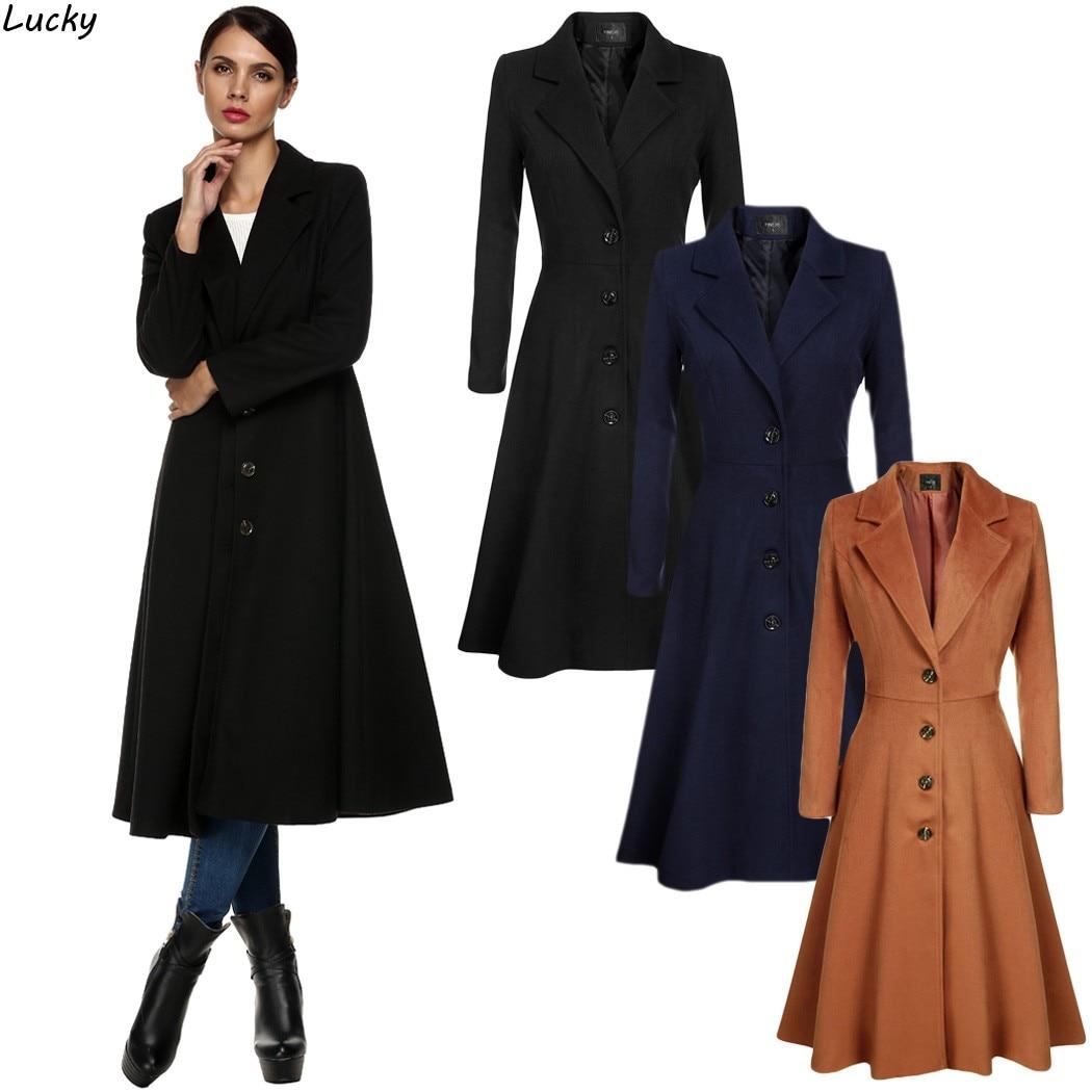 Hiver Long Manteau Unique Poitrine Survêtement Ressort Supplémentaire Cool  Femmes Lady Solide Pardessus Laine Plus La Taille 3xl Manteau Femme dans  Laine et ... 9aee4883ec95