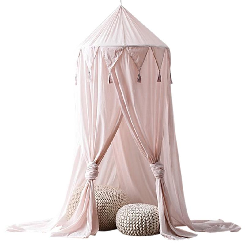 3 colors Baby Mosquito Net photography props baby room decoration home bed canopy curtain Round Crib Netting baby tent gift