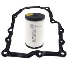 2 pcs 0AM325433D DQ200 325433E DSG 0 filtro de óleo auto Filtro filtro de transmissão + Conter juntas para VOLKSWAGEN Audi 7 velocidade