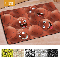 Funny Minion 3d Print Basketball Baseball Soccer Flower Non Slip Water Absorption Floor Carpet Rug Door