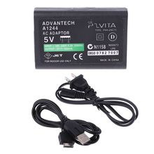 2019 new AC Power Adapter USB Data Cable Supply Convert Charger For Sony PS Vita PSV ac adapter charger power for sony ac l200 l200b l200c l200p dcr hc40e dcr hc1000