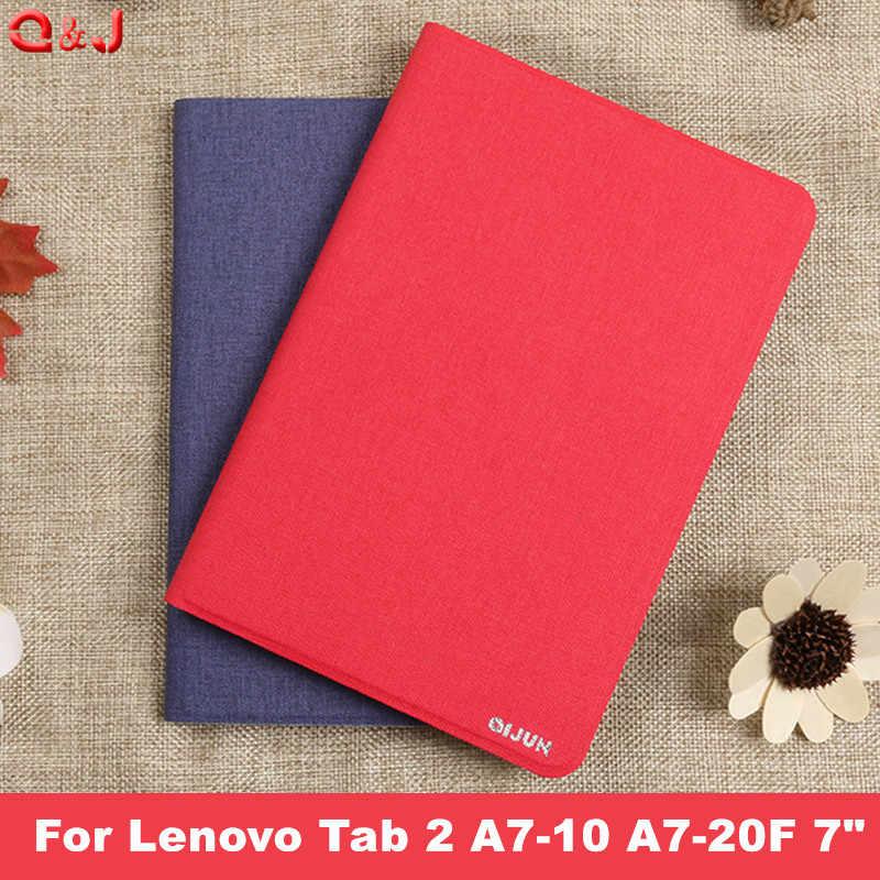 Kılıf Kapak Için Lenovo Tab 2 A7-10 A7-10F A7-20 A7-20F Tab2 A7 20 10 tablet kılıfı Braketi Flip Moda PU Deri funda çapa kapak