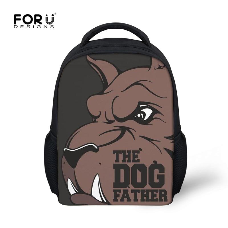 e5172b3574 FORUDESIGNS Kids Pitbull Dog Printing School Bags Backpack for Children  Kindergatern Schoolbag Boys Small Shoulder Bagpack Bolsa