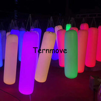 Inflatable Lighting Pillar Column PVC Tapping Touch Tube Pat to Change Color Interactive LED Toy Advertising Party for promotion