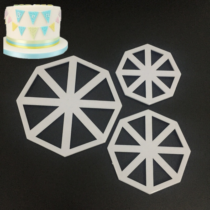 3Pcs/set Triangle Flag Cutter Mold <font><b>Cake</b></font> Side Sugarcraft <font><b>Fondant</b></font> <font><b>Cake</b></font> <font><b>Decorating</b></font> Christmas <font><b>Cake</b></font> <font><b>Decorating</b></font> <font><b>Tools</b></font> <font><b>Tool</b></font> A1183 image