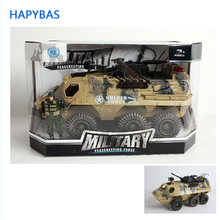 Grande Collezione 6 Ruote di Carri Armati e veicoli blindati color sabbia camouflage Diecast Serbatoio Modello di Giocattoli Per Bambini Regalo