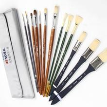 13 шт. кисть для гуаши, ручка в форме веера, ручка в форме фундука, кисть в форме крючка, ручка, ручка для рисования, товары для профессионального искусства