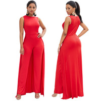New Women's Fashionable Sexy Uniform Dress Red Individual Loose Dresses and Trousers