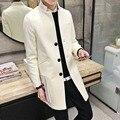 Autumn and winter in the long slim men collar coat young Korean coat