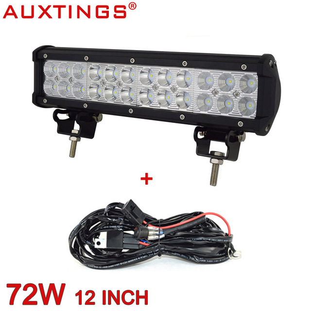 Auxtings 12inch aluminum housing led light bar 4x4 offroad led auxtings 12inch aluminum housing led light bar 4x4 offroad led driving light bar for jeep truck mozeypictures Images