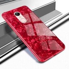 Redmi 5 artı Kılıf üzerinde Xiomi için Xiaomi redmi 5 Artı Kapak Lüks Kabuklu Kabuk Temperli Cam Telefon Kılıfları için Xiaomi r...