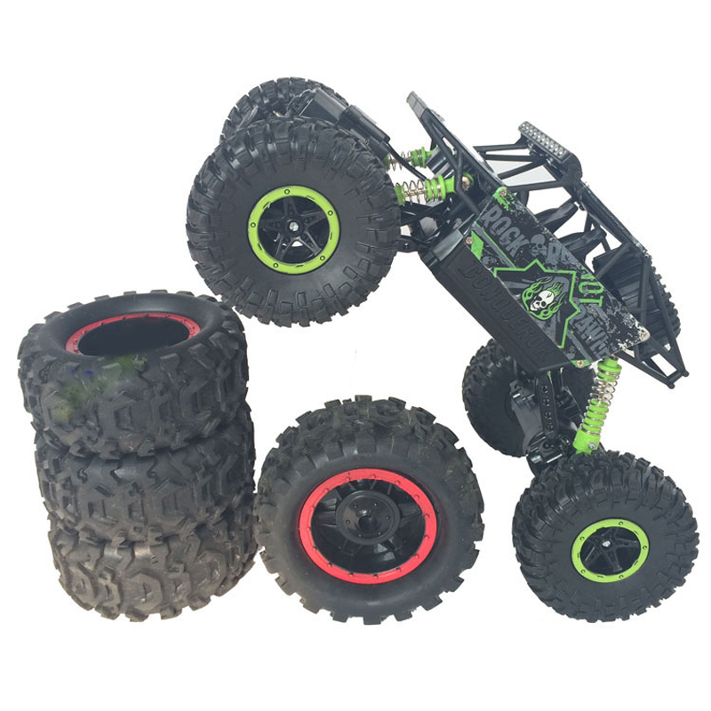 rc car 4wd 24ghz 4x4 double motors bigfoot car remote control model off road rock crawlers rally climbing vehicle car toys kids