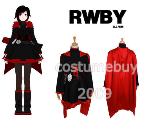 RWBY 3 Season Red Trailer Ruby Cosplay Costumes For Women Dress Anime Halloween Costume